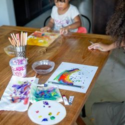 watercolor homeschool art