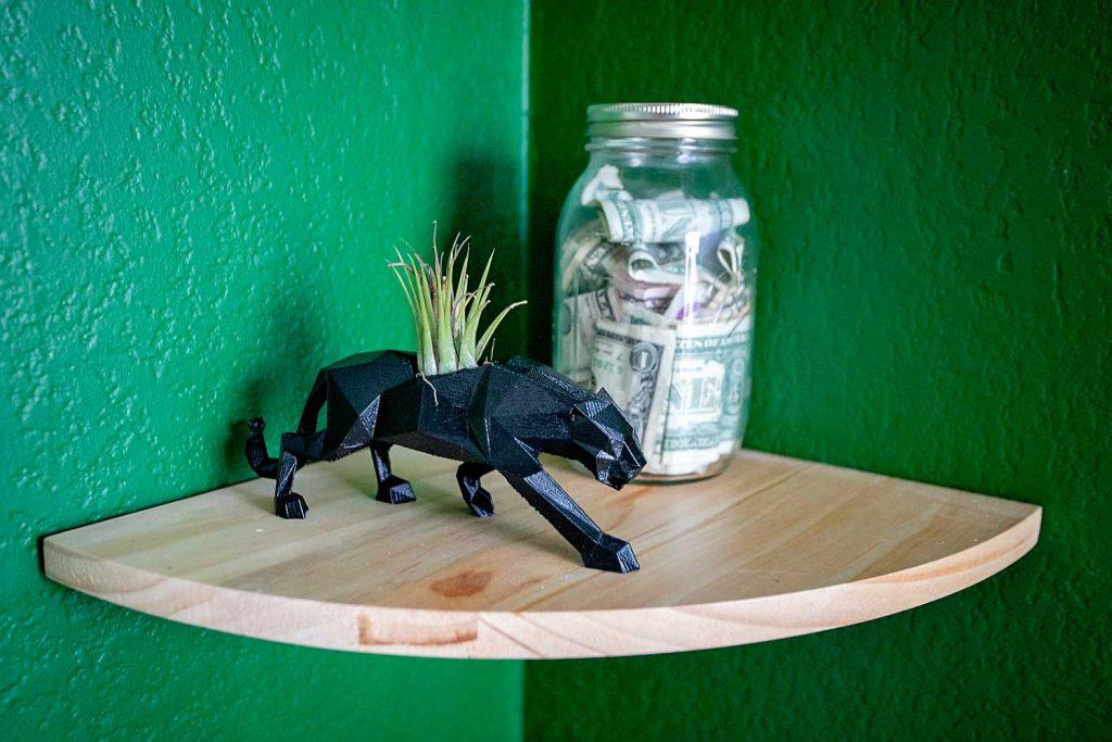 jungle room decor black panther planter