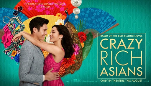 A still from Crazy Rich Asians highlighted in a valentines date night movie watchlist