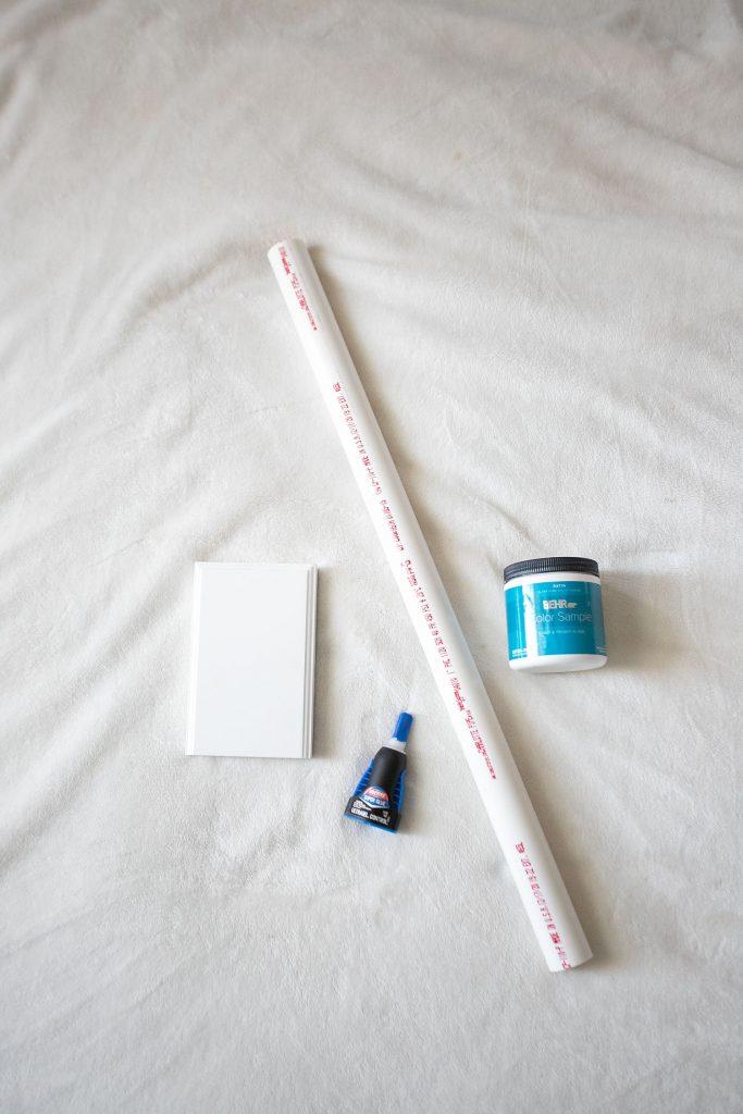 DIY Scrunchie holder supplies