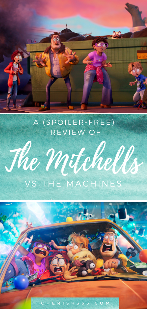 A spoiler-free review of the new #Netflix family movie: The Mitchells vs the Machines. Is it scary for little kids? A good pick for movie night? This #moviereview will help you decide.