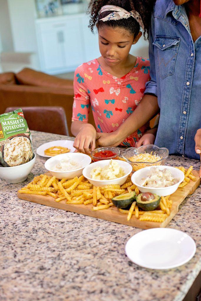 Movie night potato bar family movie night