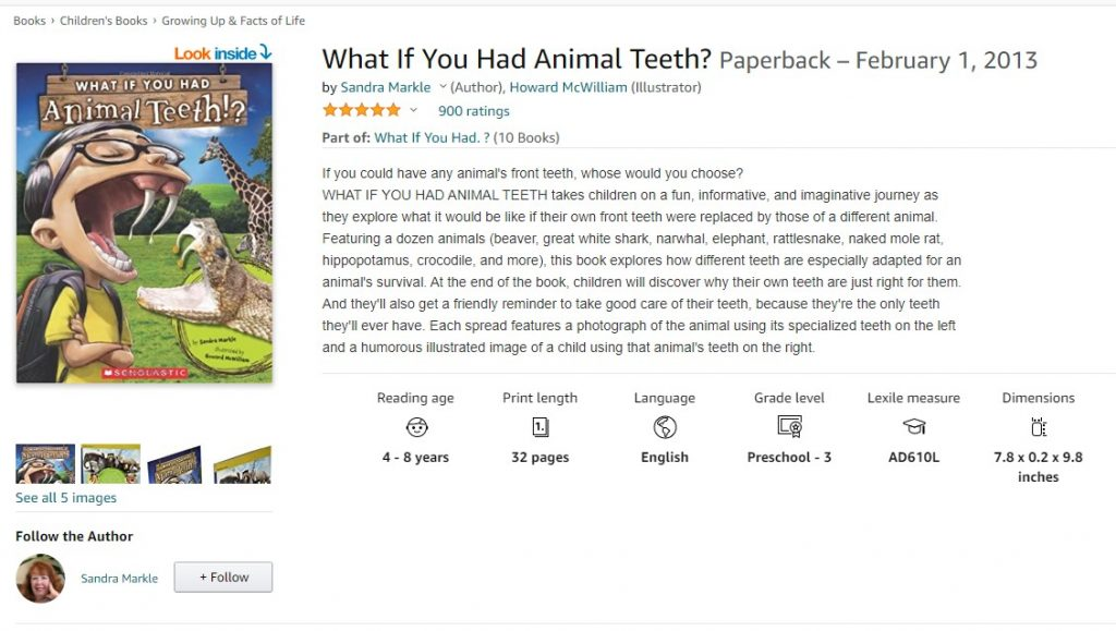 What If You Had Animal Teeth Amazon- Educational Resources for Animal Lovers