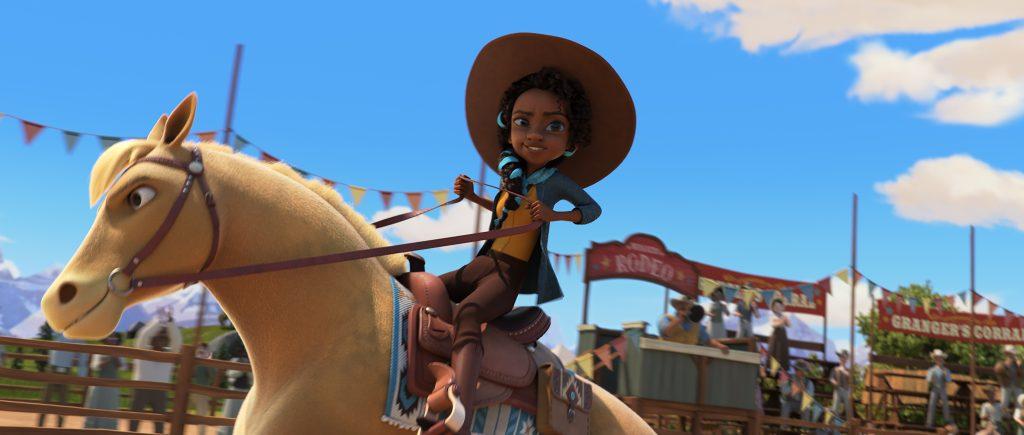 pru riding her horse