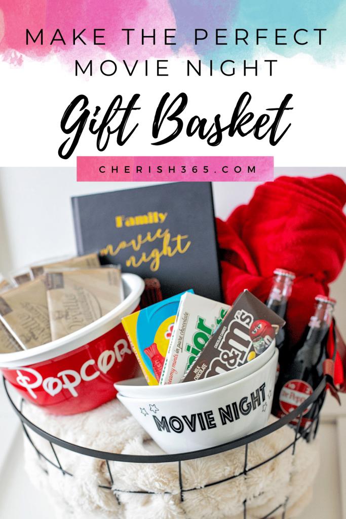 Perfect movie night gift basket.