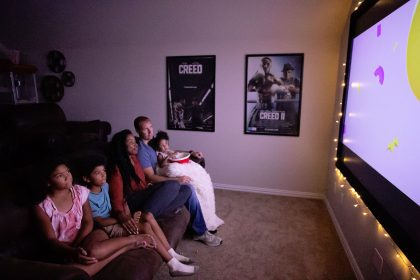 family movie night at home